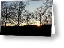 Sunset  Greeting Card by Fareeha Khawaja