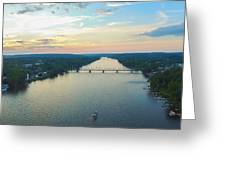 Sunset Ferry  Greeting Card