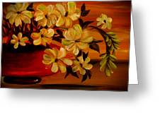 Sunset Floral Greeting Card