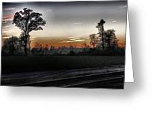 Sunset Fog Greeting Card