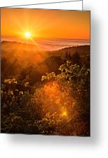 Sunset Fog Over The Pacific #2 Greeting Card