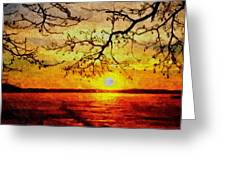 Sunset For Abigail Browne H B Greeting Card