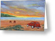 Sunset For Two  Greeting Card