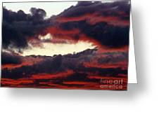 Sunset Formation Greeting Card