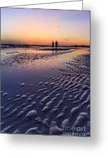 Sunset Fort Myers Beach Florida Greeting Card