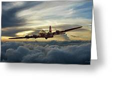 Sunset Fortress Greeting Card