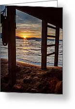 Sunset From Beneath The Pier Greeting Card