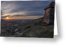 Sunset From Commedagh Greeting Card