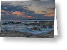 Sunset From Pacific Grove Greeting Card