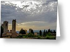 Sunset From San Gimignano Greeting Card