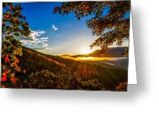 Sunset From The Blue Ridge Parkway Greeting Card