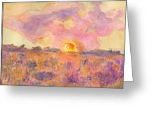 Sunset From The Road Greeting Card