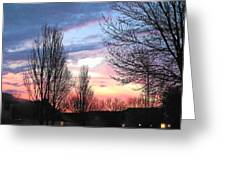 Sunset From Tifton Green Greeting Card