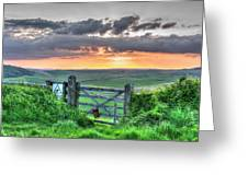 Sunset Gate Greeting Card