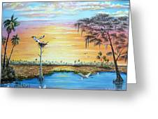 Sunset Gathering Greeting Card