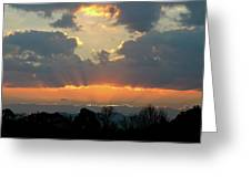 Sunset Glory Greeting Card