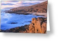 Sunset Glow Along Pacific Coast Greeting Card