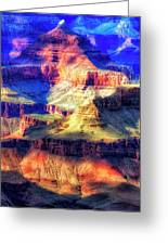 Sunset Glow At Mather Point Greeting Card