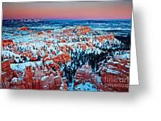 Sunset Glow Of A Hoodoo Nation Greeting Card