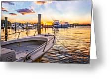 Sunset Harbor Greeting Card