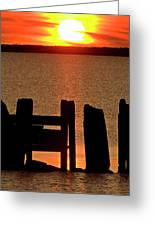 Sunset Hecla Island Manitoba Canada Greeting Card
