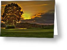 Sunset Hole In One The Landing Greeting Card