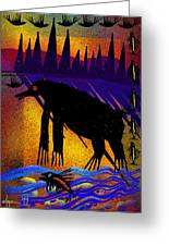 Sunset Home Greeting Card