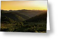Sunset In Appalachia Greeting Card