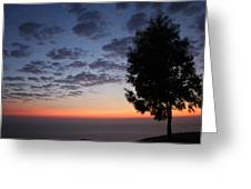Sunset In Avgonyma Greeting Card