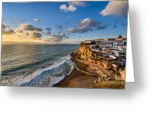 Sunset In Azenhas Do Mar Greeting Card