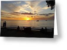 Sunset In Barbados Greeting Card