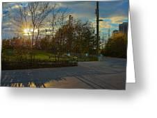 Sunset In Brooklyn  Greeting Card