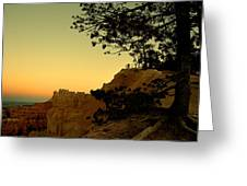 Sunset In Bryce Canyon Greeting Card
