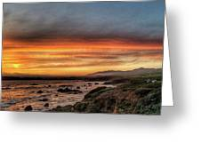 Sunset In Cambria Greeting Card