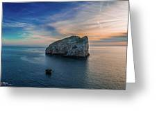 Sunset In Capo Caccia Greeting Card