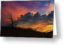 Sunset In Central Oregon Greeting Card