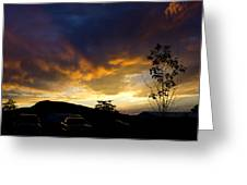 sunset in Cody wy Greeting Card