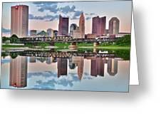 Sunset In Columbus Greeting Card