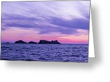 Sunset In Dubrovnik Greeting Card