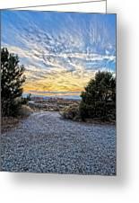 Sunset In El Prado Greeting Card