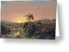 Sunset In Equador Greeting Card