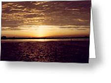 Sunset In Fl Greeting Card