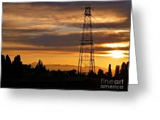 Sunset In Fremont Greeting Card