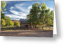 Sunset In Grafton Ghost Town I Greeting Card