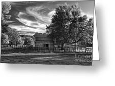 Sunset In Grafton Ghost Town Greeting Card