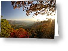 Sunset In Great Smoky Mountains Greeting Card
