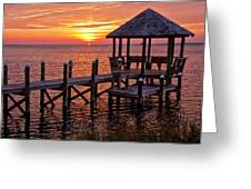 Sunset In Hatteras Greeting Card