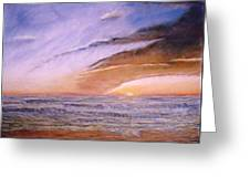 Sunset In Huntington Greeting Card