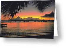 Sunset In Key West Florida Greeting Card