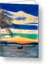 Sunset In Manuel Antonio  Greeting Card